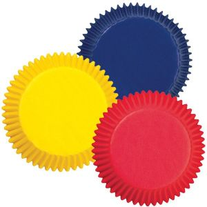 Assorted Primary Colors Baking Cups